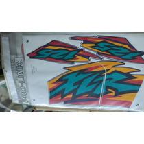 Jogo Faixa Adesivos Xlr125 2000 Azul