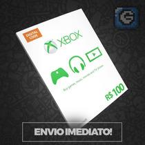 Cartão Microsoft Points Gift Xbox Br Brasil R$ 100 Reais