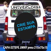 Capa Estepe Personalizada Jimny, Pneu 215x75x15 Cabo+cadeado