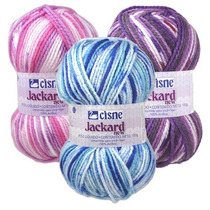 Lana Ovillo Cisne Jackard Crochet/dos Agujas Cisne $ 155