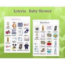 Loteria Baby Shower 80 Cartas Y 1 Baraja
