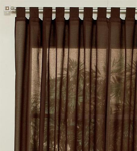 Juego de 2 cortinas translucidas cafe vianney envio gratis for Cortinas translucidas