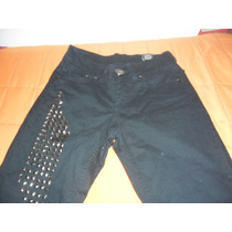 Pantalon De Gabardina Y Tachas N* 22 Negro Ossira