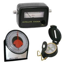 Kit Localiza Satelite Finder Analogico Bussola Inclinometro