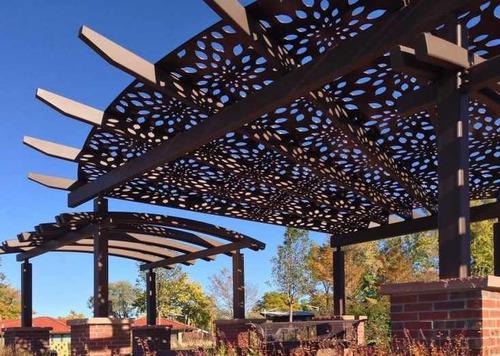 Panel Decorativo Metal Celosia Jardin Sombra Divisiones