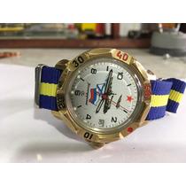 Reloj Ruso Voskot Vintage Buzo Diver Cuerda Excelente