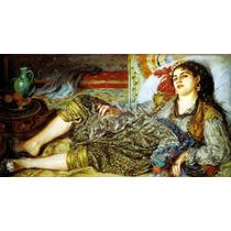 Mulher Argelina Odalisca 1870 Reprodução De Renoir Na Tela