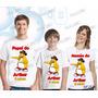 Camiseta Club Penguim Personalizada Aniversário Kit Com 3