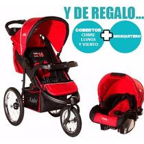 Coche Bebe C/ Huevito C40 Run Kiddy Ruedas Inflables + Infla