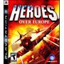 Jogo Heroes Over Europe Playstation 3 Ps3 Avião Simulador