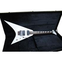 Guitarra Art Pro Flying V Randy Rhoads Branca C/ Case Saldo