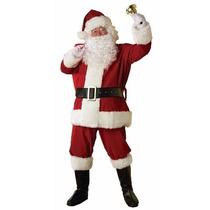 Disfraz Viejo Pascuero Santa Claus Nuevo Amer. Felpa 11pz