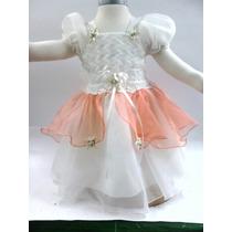 Vestido Bautizo Gala Elegante Niña Fiesta Princesa Bebé