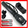Lampara Tactica 3300 Lumens Cree Led Xlm-t6 Recargable Vbf