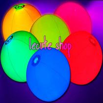 2 Pelotas Luminosa Luz Neon Varios Colores Fiesta Evento