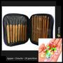 Agujas Crochet Bamboo + Estuche +20 Ganchitos