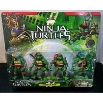 Kit 4 Bonecos Tartarugas Ninjas Nickelodeon 12cm