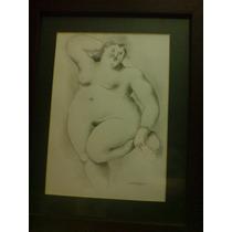 Pintura, Tinta. Desnudo De Una Gordita. Firmada Castman 11