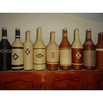 Exclusivas Botellas Forradas Con Hilo Encerado