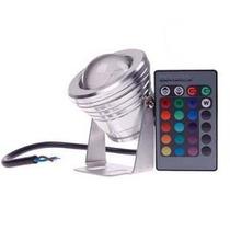 Kit 5 Lampada Led Rgb Prova Agua Controle Piscina Fonte Spot
