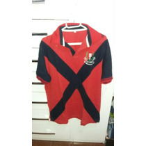Camisa Polo Vila Fundão Azul E Vermelho