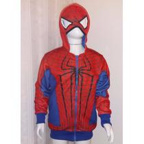 Blusa Em Moleton Infantil Super Heróis Homem Aranha