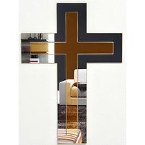 Espelho Decorativo Crucifixo Grande Parede Sala 56x40cm