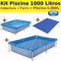 Kit Verão: Piscina 1.000 Litros + Forro + Capa - Mor