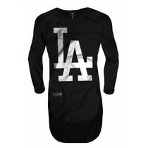 Camisa Camiseta Oversized Longline Masculina La Slim Fit Top