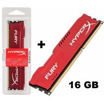Kit 16gb 2x Memória 8gb Ddr3 1600mhz Kingston Hyperx Red