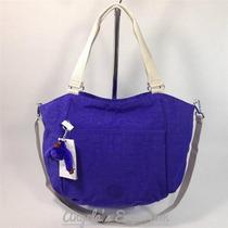 Bolsa- Maleta- Mochila De Kipling Azul Mod Gwendolyn