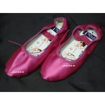 Sapatilha De Ballet Pink De Cetim Meia Ponta