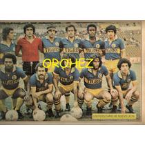 Revista Futbol Balón Tigres Uanl Equipo Completo 1981
