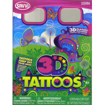 Tatuajes Temporales En 3d Con Lentes Modelo Mariposa