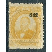 Sc 142 Juarez 50 Cent P Delgado Año 1882 Dist 40 Tuxpan