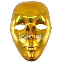 5 Mascaras Metalica Fiesta Evento Batucada Carnaval Disfraz
