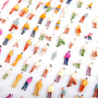 Personas Maqueta Escala 1:100 Mix Pintado Lote 100 Unidades
