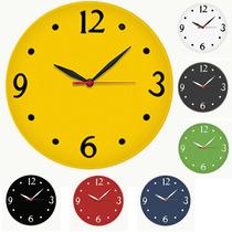 Relógio De Parede Diversas Cores - Black Friday