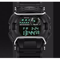 Relógio Masculino Pulso Digital Shock Militar Police Sanda