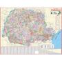 Mapa Do Estado Do Paraná -político -117 X 89 Cm - Frete 4,20