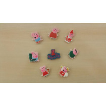 Jibbitz Bottons Broches Peppa Pig Crocs - Kit Com 8 Unidades