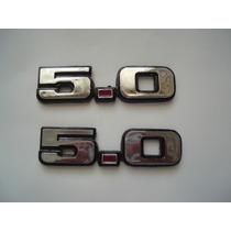 5.0 Emblema Mustang Plastico Trae Pegamento