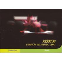 Ferrari-formula 1 De 2000-folder Ilustrado Co Selos E Blocos