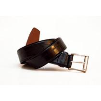 Cinto Cinturon De Vestir Cuero Negro Croco Cueros Liberty