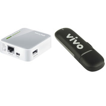 Kit Modem Huawei 3131 Saída Antena | Roteador Tplink Mr3020