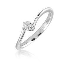 Anillo Compromiso Diamante Natural .20ct (puntos) Oro 14 Kt.