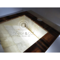 Mueble Baño Lavabos Ovalin Onix-marmol Minimalista Moderno