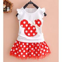 Conjunto Vestido Fantasia Minnie Vermelha - Pronta Entrega