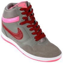 Zapatillas Nike Force Sky High (gris+bordó) Ultimo Talle!!!