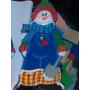 Navidad En Foami Muñeco Nieve,santa,reno,imanes, Bambalinas